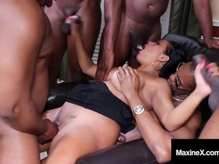 Well-endowed Nikki Benz fucks and