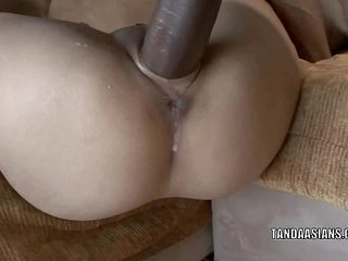 Chinese sweetie Miley Villa gets her little twat banged hard