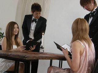 Hibiki Ohtsuki tasting delicious cum and cock